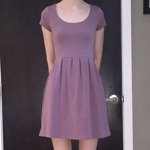 Tinley Road Dusty Purple Short-sleeved Dress